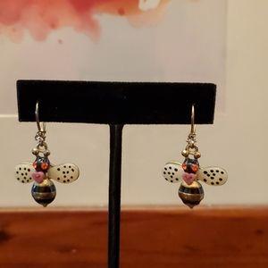 Betsy Johnson Bumblebee Earrings